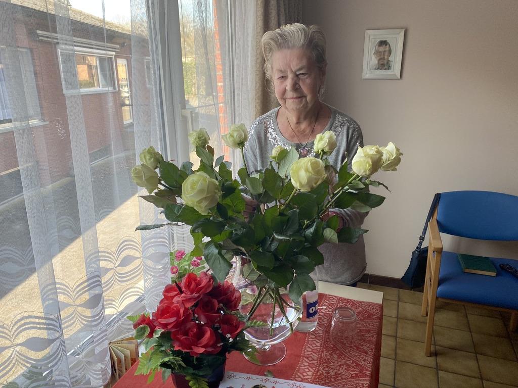 Bedankt voor die bloemen!