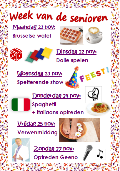 Week van de Senioren 21 - 27 november