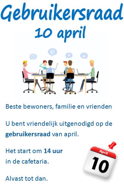 Gebruikersraad 10 april