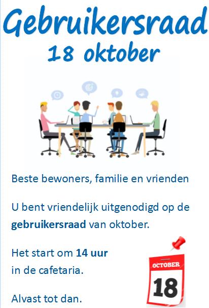 Gebruikersraad 18 oktober