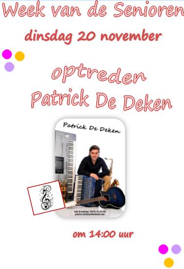 Wvds 20 nov - Optreden Patrick De Deken