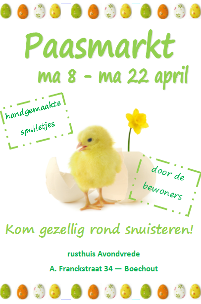 Paasmarktje 8-22 april