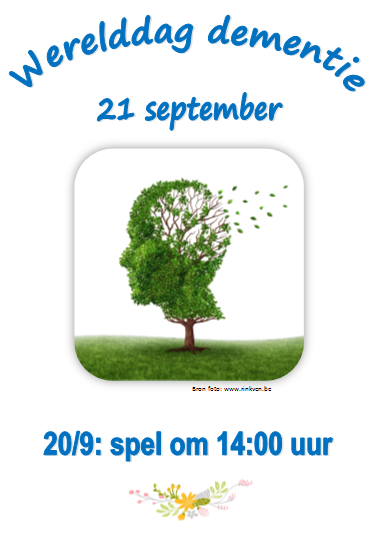 Werelddag dementie 21 september