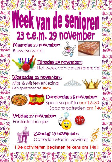 Week van de Senioren  23 - 29 november