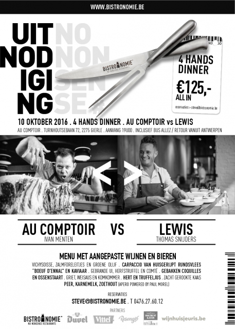 WHEN AU COMPTOIR MEETS LEWIS : UNIEK 4HANDS DINER