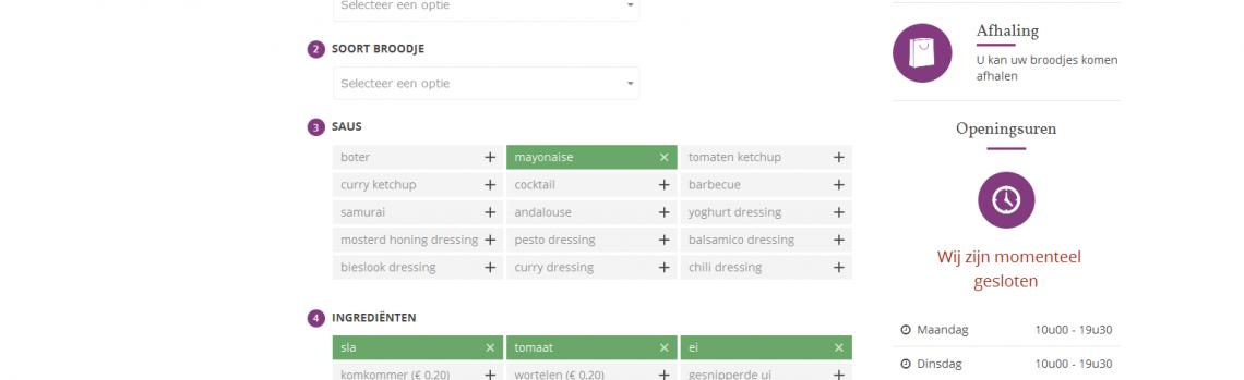 Lancering nieuwe website met online bestellingen