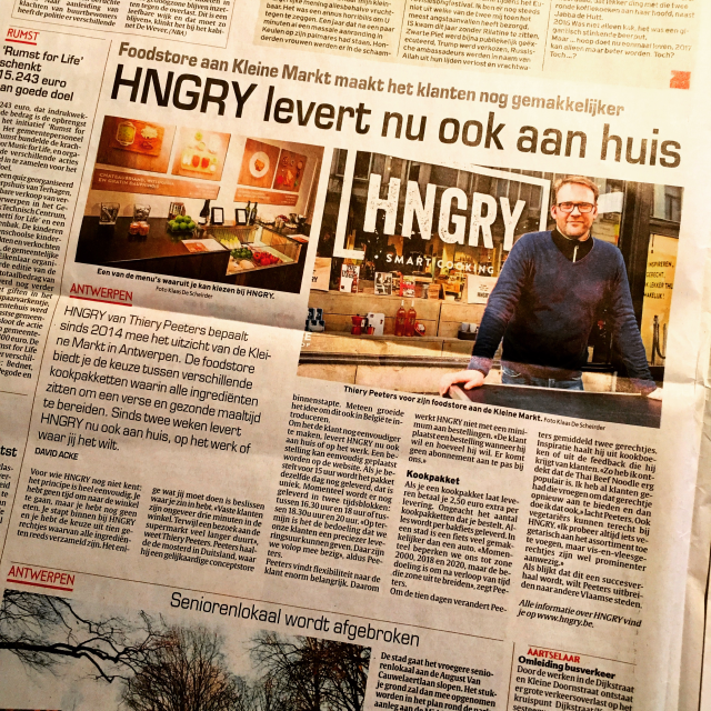 HNGRY kiest resoluut voor same day ECO DLVRY !!