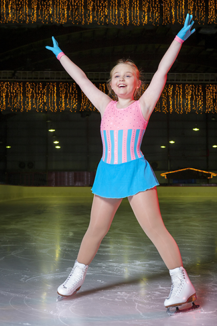 Joannie on ice