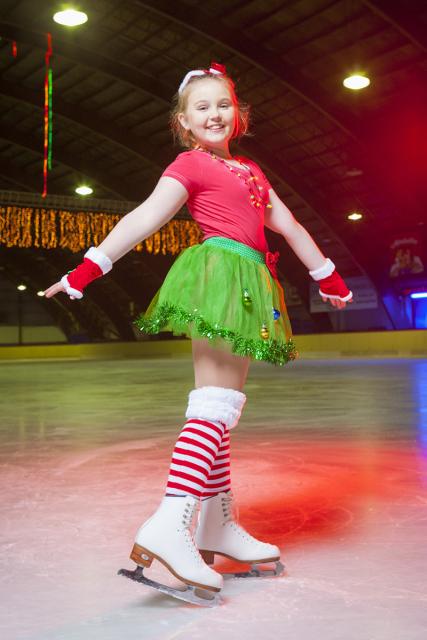 Joannie on ice