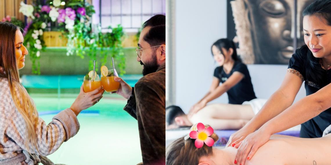 Massage duo et sauna privé