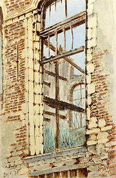 Stan Baele (kunstschilder) - Verbrande Bibliotheek St Paulus 2