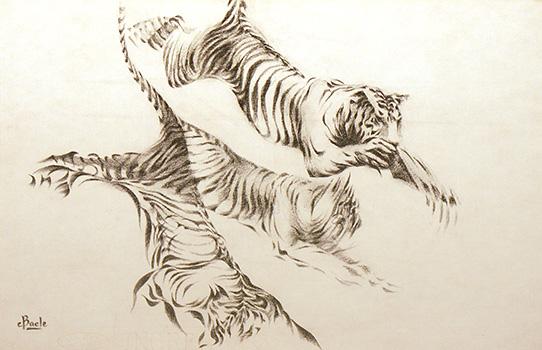 Stan Baele (kunstschilder) - Springende Tijgers
