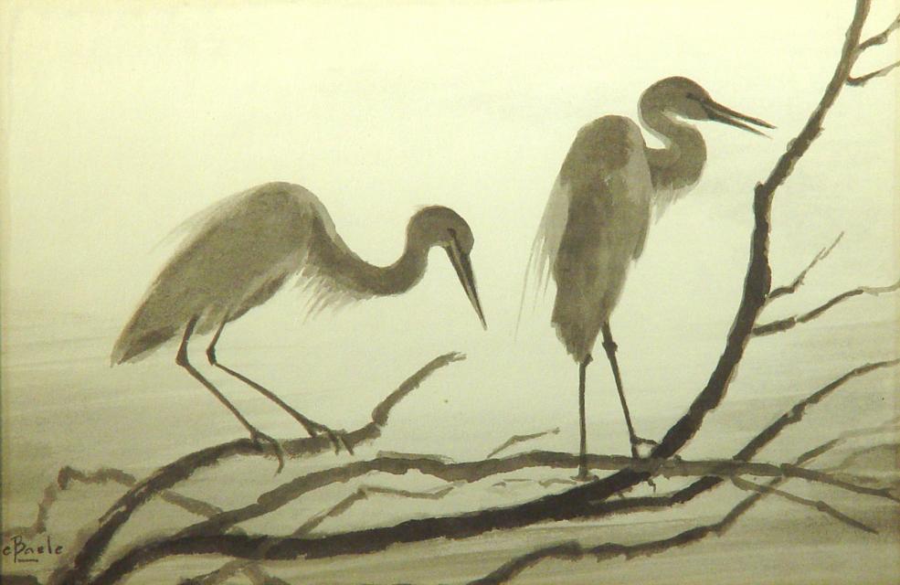 Stan Baele (kunstschilder) - Reigers