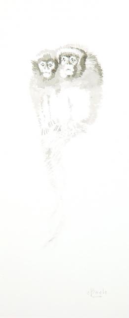 Stan Baele (kunstschilder) - Twee Springaapjes