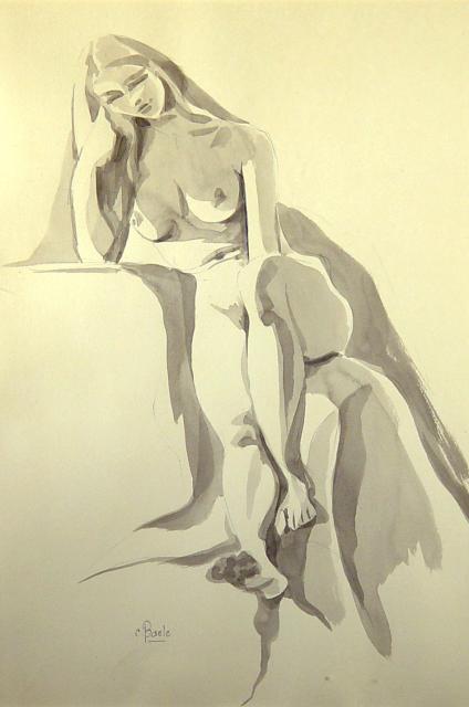 Stan Baele (kunstschilder) - Danielle Naakt