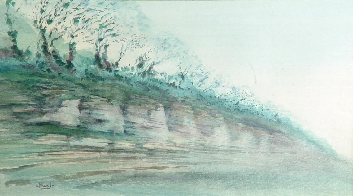 Stan Baele (kunstschilder) - Krijtrotsen Tancarville