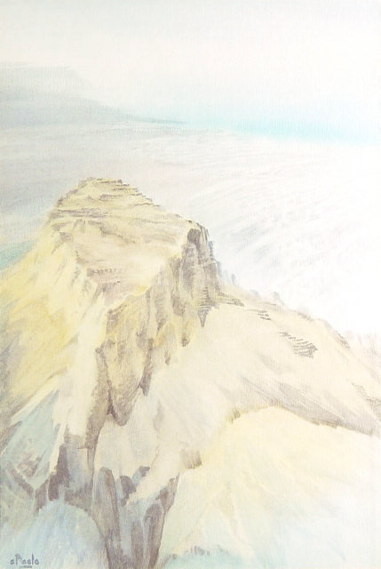 Stan Baele (kunstschilder) - Massadah ( Dode Zee )