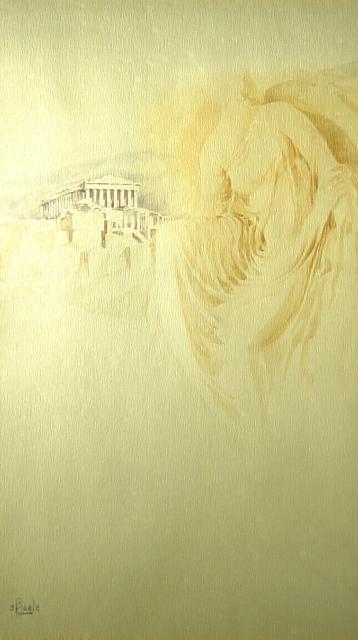 Stan Baele (kunstschilder) - Nike op de Akropolis