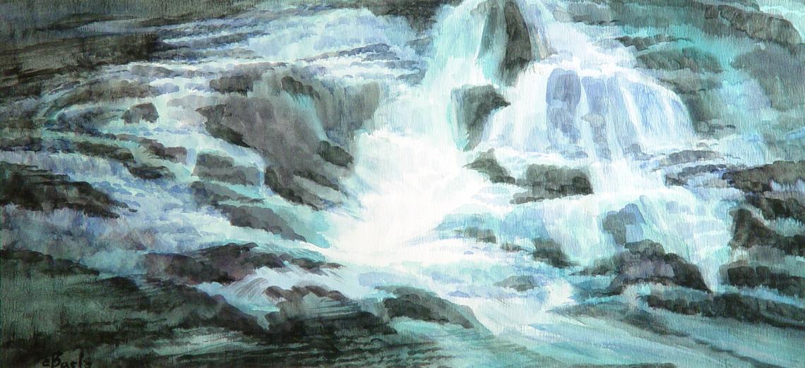 Stan Baele (kunstschilder) - Waterval (Noorwegen)