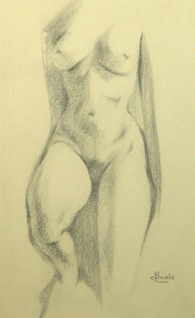 Stan Baele (kunstschilder) - Staand Naakt
