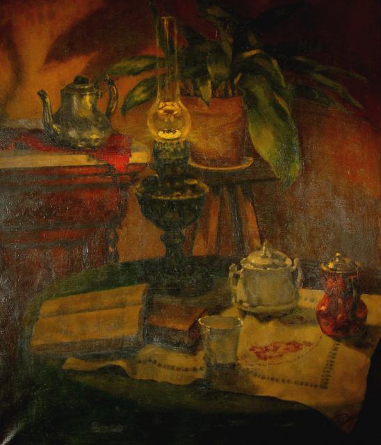 Stan Baele (kunstschilder) - Stilleven met Lamp