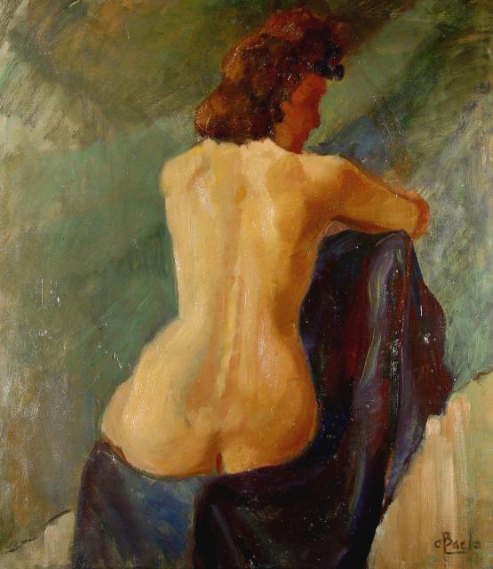 Stan Baele (kunstschilder) - Naakt (ruggelings)