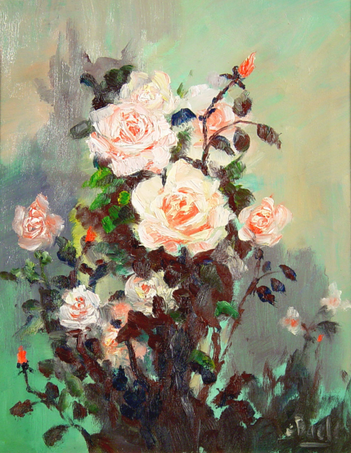 Stan Baele (kunstschilder) - Rozen