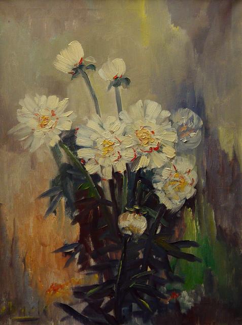Stan Baele (kunstschilder) - Pioenen