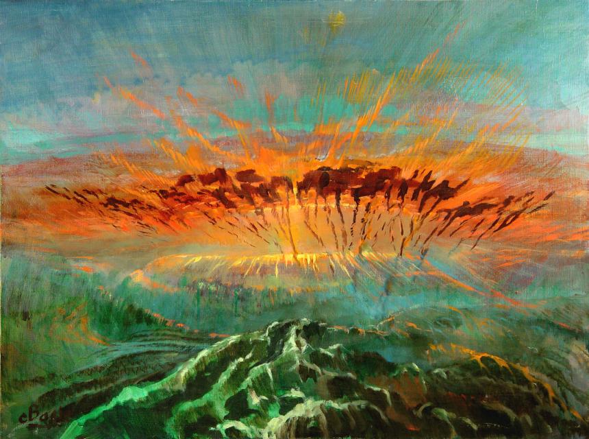 Stan Baele (kunstschilder) - Vuurdans