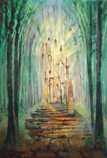 Stan Baele (kunstschilder) - Rune in het Woud