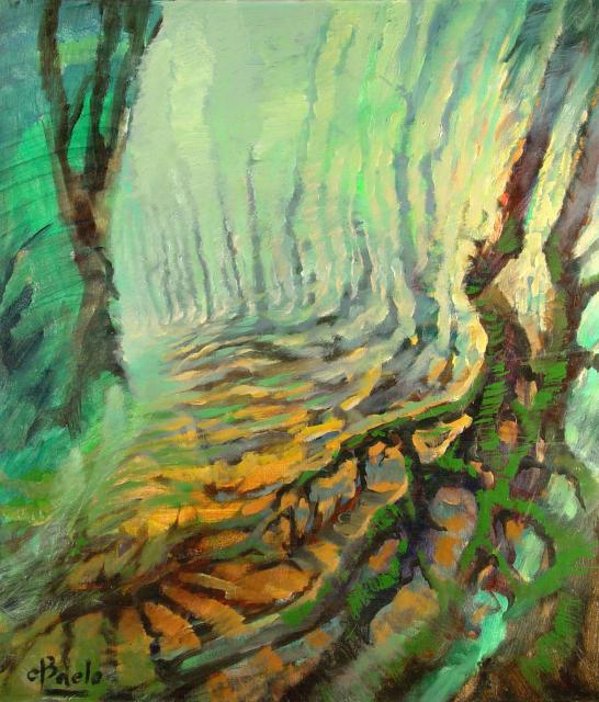Stan Baele (kunstschilder) - Verschroeid Bos