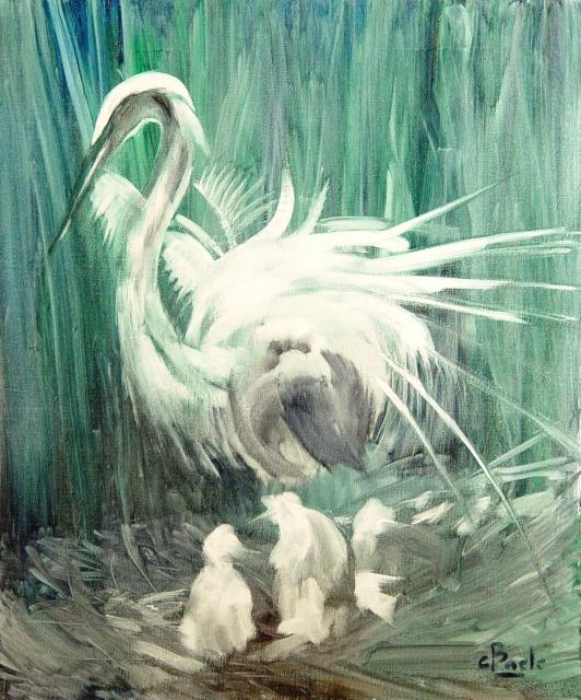 Stan Baele (kunstschilder) - Zilverreiger