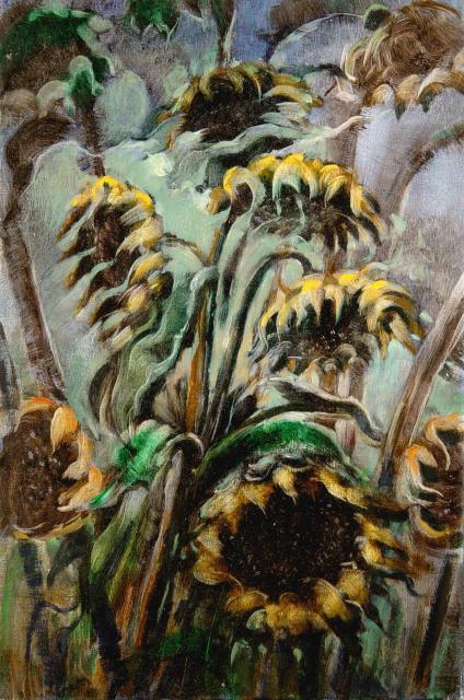 Stan Baele (kunstschilder) - Zonnebloemen IV