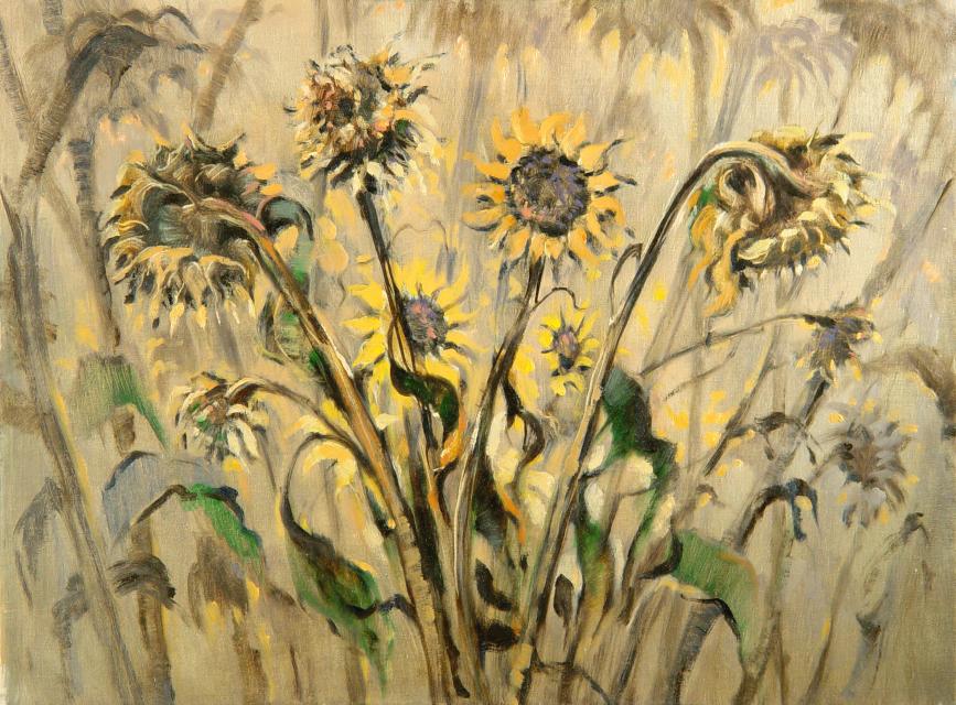Stan Baele (kunstschilder) - Zonnebloemen V