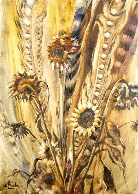 Stan Baele (kunstschilder) - Zonnebloemen III
