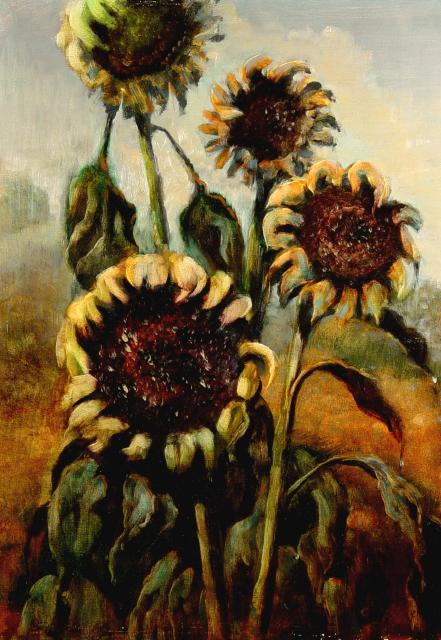 Stan Baele (kunstschilder) - Zonnebloemen II
