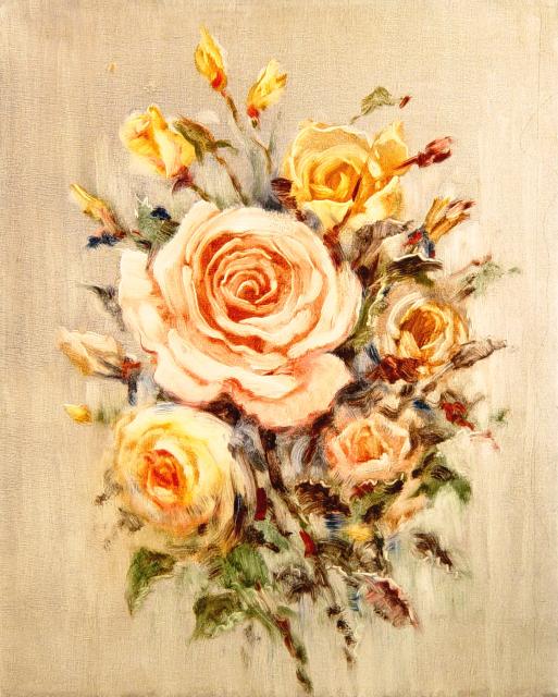 Stan Baele (kunstschilder) - Rozen III