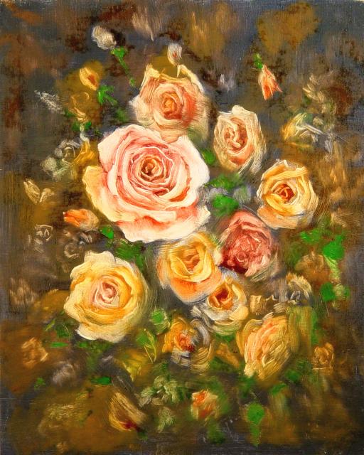 Stan Baele (kunstschilder) - Rozen IV