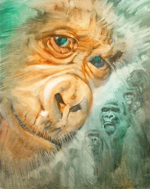 Stan Baele (kunstschilder) - Albino Gorilla