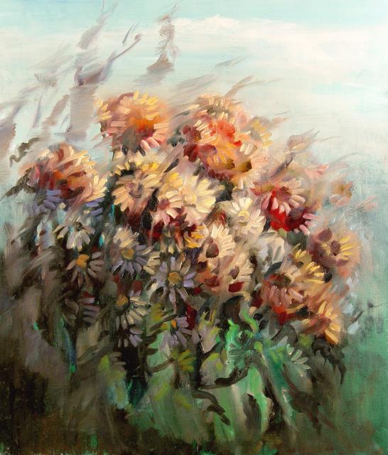 Stan Baele (kunstschilder) - Chrysanten