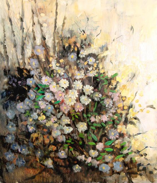 Stan Baele (kunstschilder) - Wilde Asters