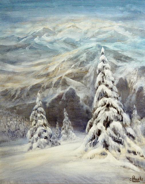 Stan Baele (kunstschilder) - Sneeuw in het Hooggebergte
