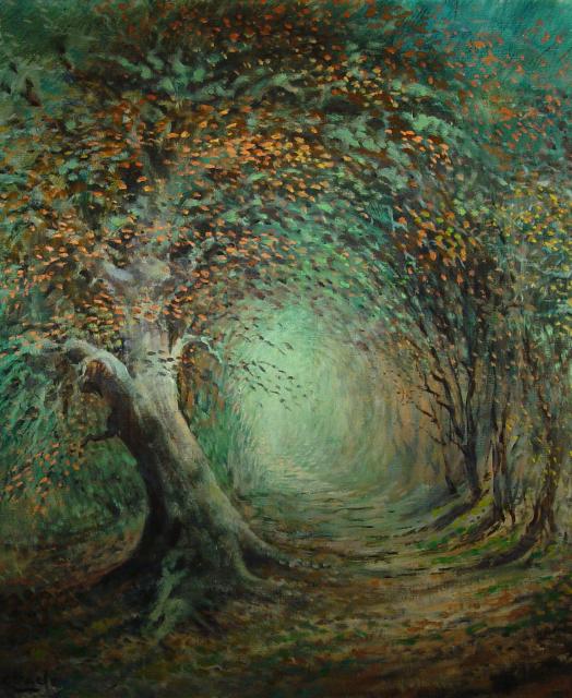 Stan Baele (kunstschilder) - Eik (Holle weg)