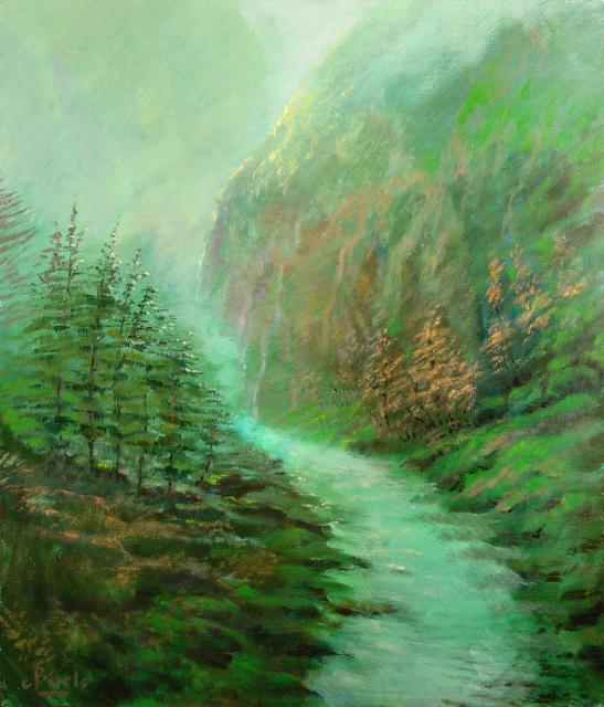 Stan Baele (kunstschilder) - Mystiek Landschap