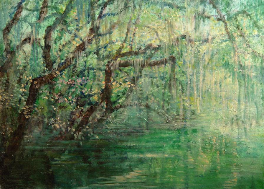 Stan Baele (kunstschilder) - Sumatra II Regenwoud