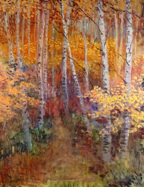 Berken in de Herfst