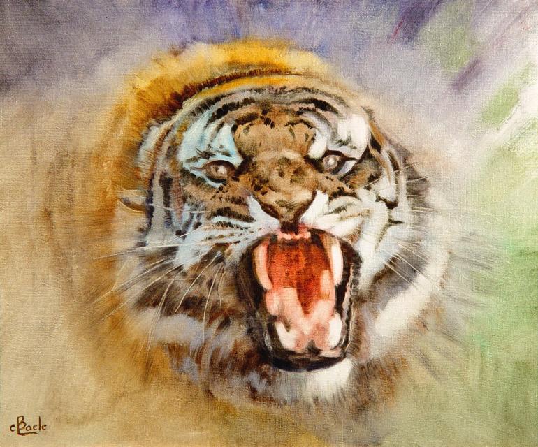 Stan Baele (kunstschilder) - Tijger in de Verdediging