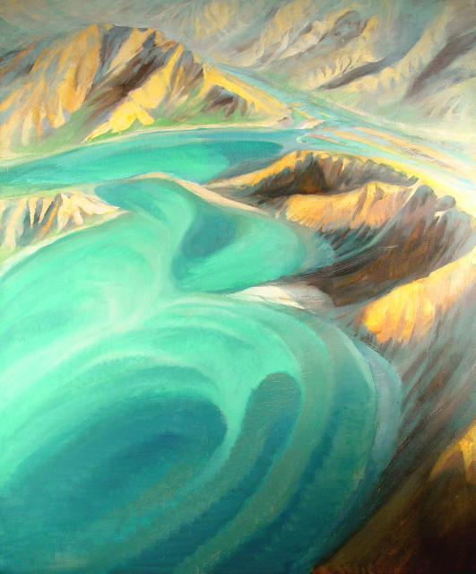 Stan Baele (kunstschilder) - Gletsjerwater