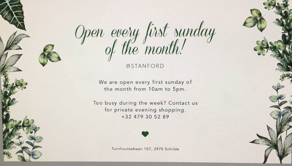Blog Stanford Schilde pictures about Open every first Sunday of the month