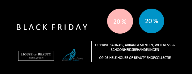 Zensation Actie - BLACK FRIDAY